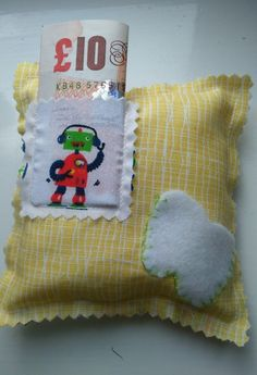 Boogie Robot Toothfairy Pillow with Letter £5.00