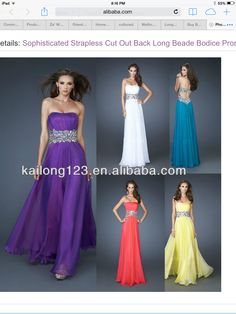 Bridesmade dress the back I love...I kinda like the purple too