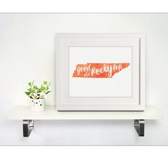Good Ole Rocky Top Tennessee handpainted watercolor art print, University of Tennessee Volunteers Vols wall art, gift idea by SweetFaceDesign