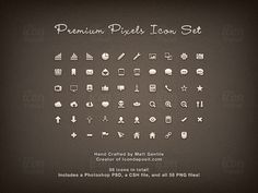 58 Premium Pixels Icon Set
