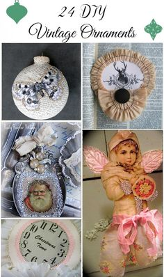 Today I am sharing with you 24 beautiful DIY Vintage ornaments ideas. All of these ornaments were either created by my readers, or by me, and many of them using vintage graphics found here on The Graphics Fairy. I've featured many of these in the past but wanted to have them as a collection for …