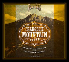 Next Up in Founders Brewing Co.'s Backstage Series Release: Frangelic Mountain Brown. #beer #craftbeer