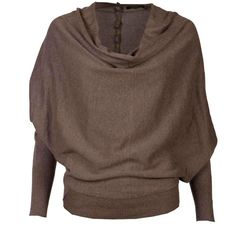 Elgar Cowl Neck Pullover (£81) found on Polyvore