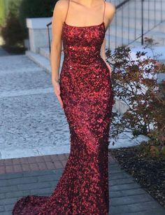 Sexy Burgundy Long Prom Dresses Split Front Evening Dresses – Berlinnova