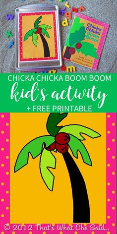 Chicka Chicka Boom Boom Free Activity Printable Free Printable of Chicka Chicka Boom Boom Tree for fun kid's activity<br> Act out the adorable book Chicka Chicka Boom Boom with this fun activity and free printable! Preschool Literacy, Preschool Books, Free Preschool, Preschool Lessons, Preschool Ideas, Preschool Education, Kindergarten Literacy, Early Literacy, Early Education