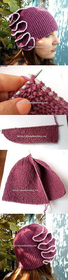 Вязание шапочки спицhats ами