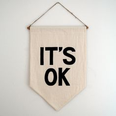 "Image of ""IT'S OK"" Banner"