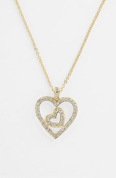 Nadri Boxed Heart Pendant Necklace (Nordstrom Exclusive) available at #Nordstrom