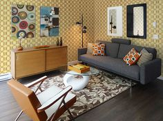 Mid Century Modern Project - modern - Living Room - Vancouver - MAD - Modern Affordable Design Solutions Ltd