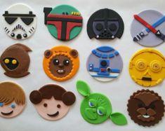 Star Wars edible fondant cupcake toppers