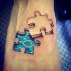 Autism Symbols In Color | Puzzle Piece Tattoos
