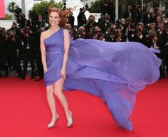 Jessica Chastain having a Marilyn moment at Cannes 2014