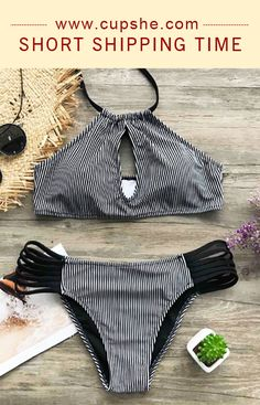 Stripe is never out of style. Get extra chic look and soft feeling in our flirty and fun swimwear. Keep all eyes on you in it. Halter Bikini, Bikini Set, Best Swimwear, Bathing Suits, Confidence, Florida, Swimsuits, Inspire, Hat