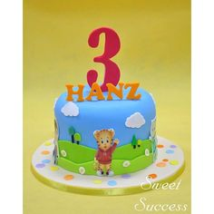 It's grrr-riffic day in the neighborhood with Daniel Tiger. Daniel Tiger Birthday Cake, Daniel Tiger Cake, Daniel Tiger Party, 3rd Birthday Cakes, 1st Boy Birthday, 3rd Birthday Parties, Birthday Ideas, Daniel Tiger Trolley, First Birthdays