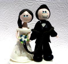 funny wedding cake topper funny cake topper funny topper groom tied