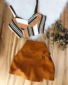 Cute Summer Outfits, Cute Casual Outfits, Pretty Outfits, Stylish Outfits, Teen Fashion Outfits, Mode Outfits, Skirt Outfits, Kids Dress Wear, Teenager Outfits
