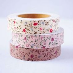 I'm addicted to washi tape, and these pretty floral prints from Happy Home would probably wind up adorning any number of things. Notebooks. Telephone poles. People.