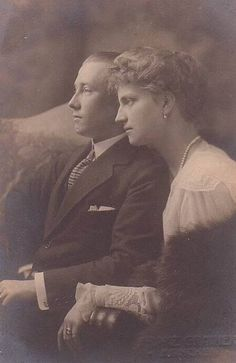 Friedrich of Hohenzollern-Sigmaringen with his wife Margarethe of Saxony.