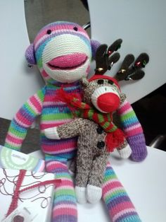 My sock monkeys thanks to Dr.Eagles! :)