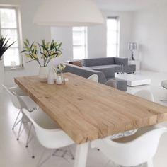 Agnieszka Trafas (@laurentino20) | Marzy mi się taki duży drewniany stół... Tylko miejsca u nas brak  #stół#jadalnia#rodzina#drewno | Intagme - The Best Instagram Widget