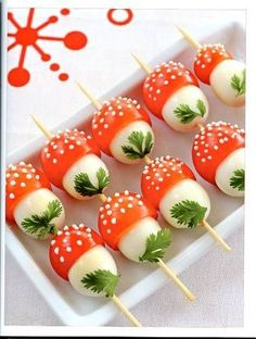 Pomodorini + mozzarelline = funghetti!