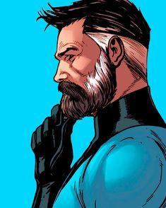 Crypto Superheroes- Don Tapscott Reed Richards Marvel Comic Character, Marvel Characters, Character Art, Character Design, Fantastic Four Marvel, Mister Fantastic, Marvel Comics Art, Marvel Heroes, Captain Marvel
