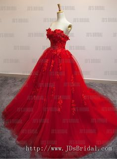 JW16188 perfect burgundy red lace ball gown tulle wedding dress