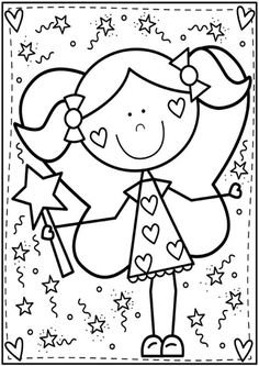 Free & Easy To Print Cute Coloring Pages - Tulamama Cute Coloring Pages, Christmas Coloring Pages, Adult Coloring Pages, Coloring Pages For Kids, Coloring Sheets, Coloring Books, Kindergarten Coloring Pages, Valentines Day Coloring, Color Club