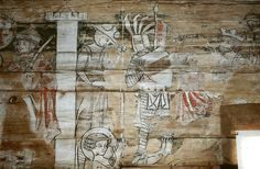 Sødra Råda gamla kyrka. Painting 1323. Man with helm is wearing coat of plates integrated into some sort of surcote like the st maurits and the sleeping guards in Konstanz Münster. As noticed here http://users.atw.hu/medievalhouse/OspMedScanArm_1100-1300.pdf