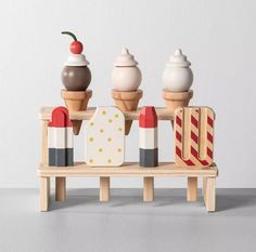 These wooden toys from Joanna Gaines' Target collection are 😍 These wooden toys from Joanna Gaines' Target collection are 😍,Unique Gift Ideas Joanna Gaines Hearth and Hand Natural Toys Games for Kids – Motherly. Ice Cream Toy Set, Wooden Display Stand, Kids Market, Supermarket, Chip And Joanna Gaines, Natural Toys, Montessori Toys, Holidays With Kids, Play Food