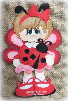 Items similar to Lady Buggies Girl Premade Scrapbooking Embellishment Paper Piecing on Etsy Bug Crafts, Foam Crafts, Diy And Crafts, Arts And Crafts, Paper Crafts, Paper Piecing, Easy Sewing Projects, Sewing Crafts, Scrapbook Embellishments