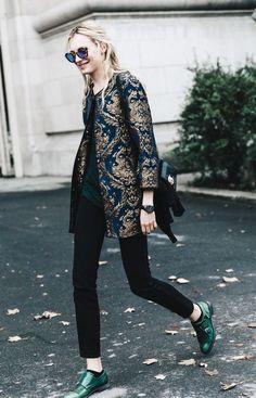 We love this beautiful jacquard blazer.