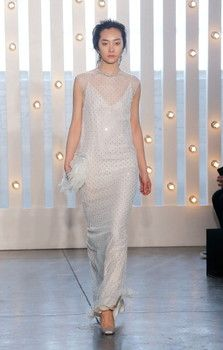 Mercedes-Benz Fashion Week, Jenny Packham Fall/Winter 2014 inspired by Bianca Jagger in the '70's with her effortless chic style. New York, ...