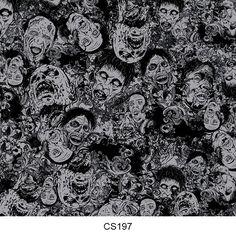Hydrographics film skull pattern CS197