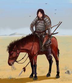 Mongol woman-warrior by ShWaK