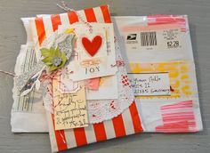 Sweet parcel from Debee Blog Frases, Pen Pal Letters, Pocket Letters, Mail Art Envelopes, Snail Mail Pen Pals, Letter Folding, Scrapbooking, Scrapbook Cards, Mail Gifts