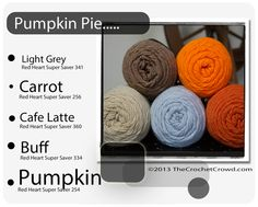Red Heart Super Saver Color Mix: PUMPKIN PIE