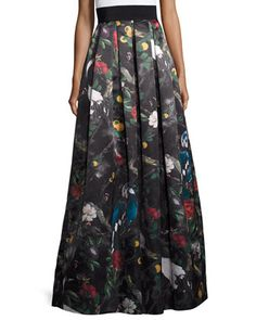 Pleated+Floral+Ball+Skirt,+Charmed+Forest+by+Alice+++Olivia+at+Bergdorf+Goodman.
