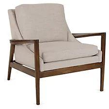 Ebonwood Accent Chair, Beige
