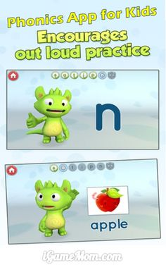 Free Phonics app for kids encouraging practice out loud #KidsApps