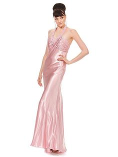 Fabulous Floor-length Halter Taffeta Evening Dress with Rhinestones
