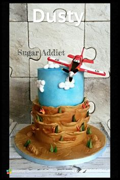 Dusty fire and rescue cake