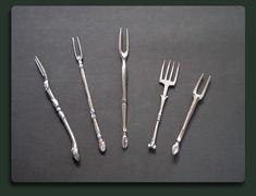 Lovely handmade pewter forks