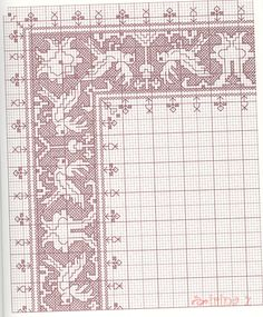 Great collection of patterns point in Assisi Motifs Blackwork, Blackwork Embroidery, Modern Embroidery, Cross Stitch Embroidery, Embroidery Patterns, Just Cross Stitch, Cross Stitch Borders, Cross Stitch Charts, Cross Stitching