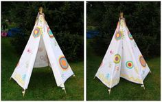 No-sew teepee, perfect for the backyard!                                                                                                                                                                                 More