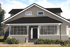 Exterior color schemes bungalow home suggested colour scheme 1 2019 House Exterior Color Schemes, Exterior Paint Colors For House, Exterior Colors, Exterior Design, Interior And Exterior, Outside House Paint, Gutter Colors, Door Alternatives, Pintura Exterior