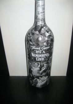 It's A Wonderful Life Movie Decoupage on MAGNUM Wine by i8dpie, $52.00
