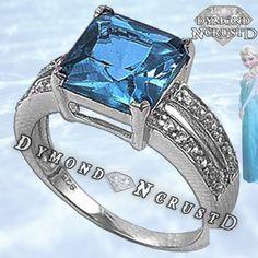 Frozen Inspired Queen Elsa  Aquamarine Topaz with by DymondNcrustD