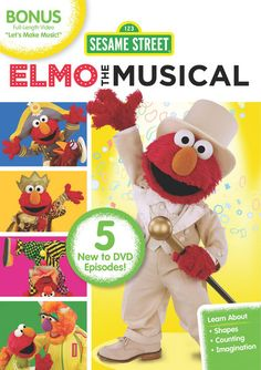 Elmo the Musical: On May 7, Elmo will sing and dance his way onto your television screen in his latest DVD, Elmo the Musical ($15). As part of the Sesame Workshops STEM curriculum, the DVD will focus on building math skills like addition and subtraction, relational concepts, and shapes as he performs five episodes taken from Sesame Streets 43rd season. Expect to see Elmo taking part in Sea Captain the Musical, Circus the Musical, and Prince Elmo the Musical, among other educational pieces.