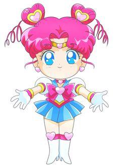 """Sailor Moon StarS"" fan art - Sailor Chibi Chibi Moon (Cover) by JackoWcastillo."
